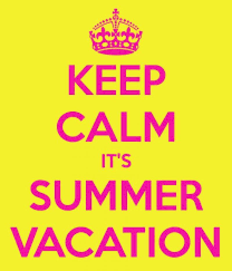 Iedereen een fijne vakantie toegewenst